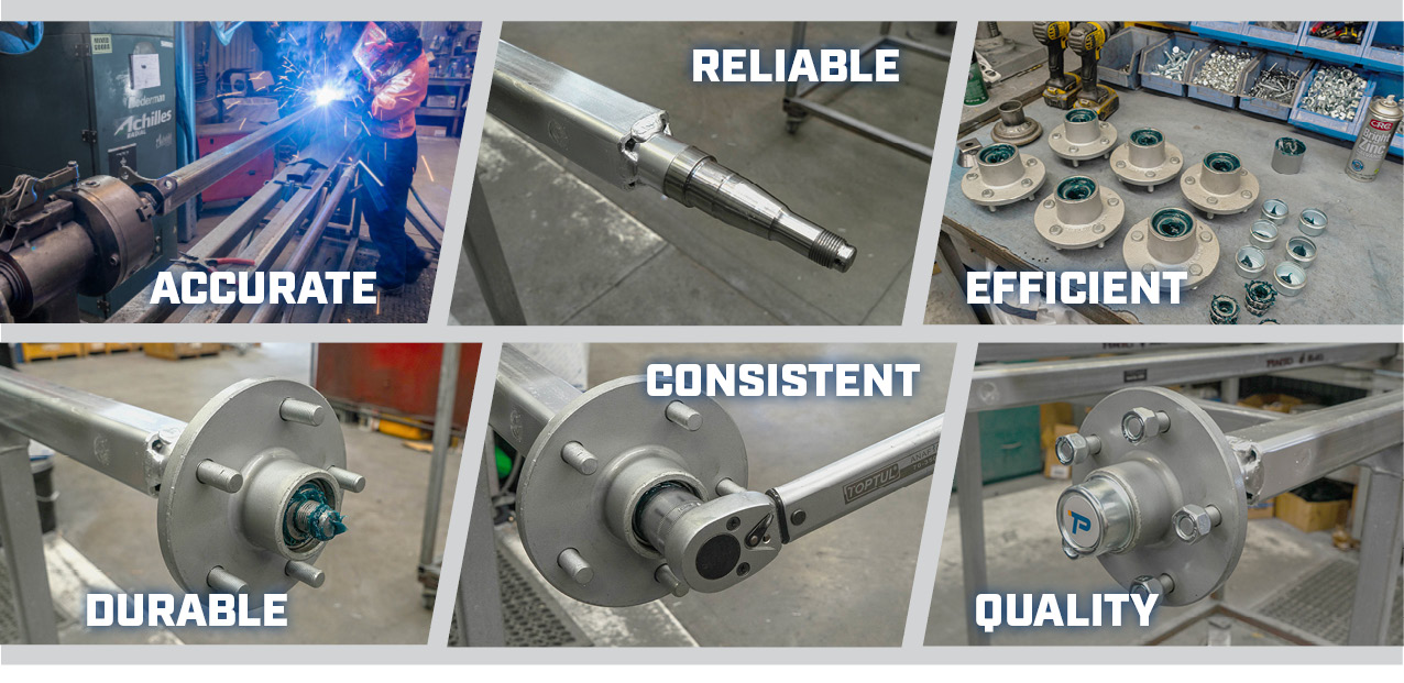 durable, accurate, reliable, consistent, quality trailer axles